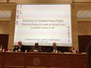 Giornata Mondiale per i diritti della Persona Disabile